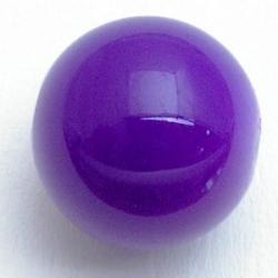 Glaskraal, rond, paars, 14 mm (5 st.)