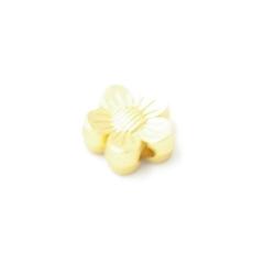 Metaal kraal bloem DQ matgoud 8mm (5st.)