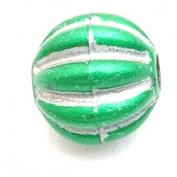 Kunststof kraal rond groen 14 mm (10 st.)