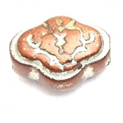 Kunststof kraal rond bruin metallic 16 mm (5 st.)
