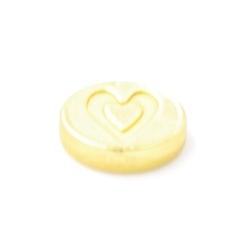 Metaal kraal ovaal 'Love' DQ matgoud 10mm (5st.)