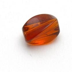 Glaskraal, rechthoekig, bruin, 13 x 8 mm (10 st.)