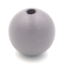 Houten kraal rond grijs 24mm (5 st.)