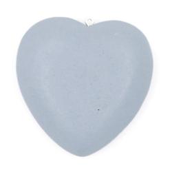 Houten hanger hart grijs 40mm (3 st.)