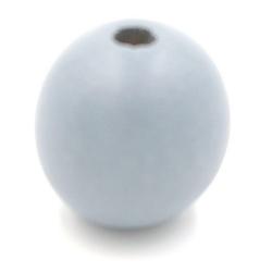 Houten kraal rond grijs 30mm (3 st.)