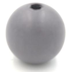 Houten kraal rond donkergrijs 30mm (3 st.)