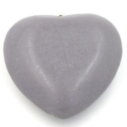 Houten hanger hart donkergrijs 40mm (3 st.)