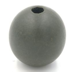 Houten kraal rond legergroen 30mm (3 st.)