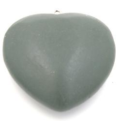 Houten hanger hart legergroen 40mm (3 st.)
