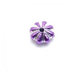 Kunststof kraal rond lila metallic 3 x 6 mm (20 st.)