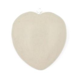 Houten hanger hart beige 40mm (3 st.))