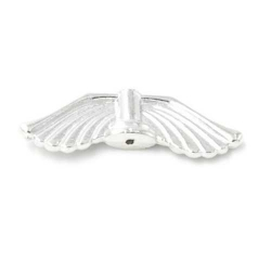 Metaal kraal engelvleugel zilver 8x28mm (5st.)