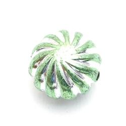 Kunststof kraal rond limegroen 18 mm (5 st.)