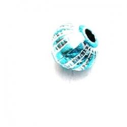 Kunststof kraal rond turquoise 6 mm (20 st.)