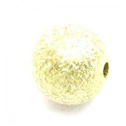 Kunststof kraal rond limegroen metallic 12 mm (10 st.)