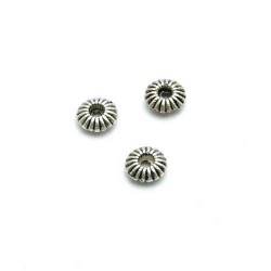 Spacer rond antique zilver 2x6mm (50 st.)