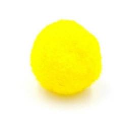 Pompon 20mm geel (5 stuks)