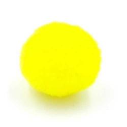 Pompon 20mm okergeel (5 stuks)