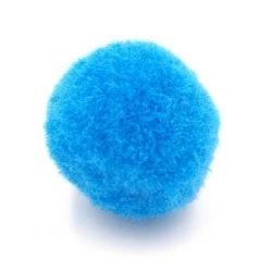 Pompon 20mm blauw (5 stuks)
