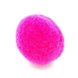 Pompon 26mm roze (5 stuks)