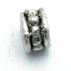 Metaal, spacer, zilver, 4 mm (20 st.)