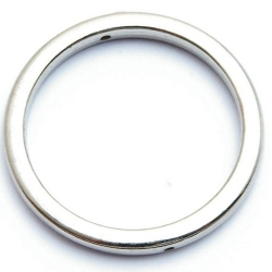 Montagering, metallook, zilver, 30 mm (5 st.)