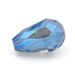 Facet kraal druppel blauw 16x10mm (10 st.)