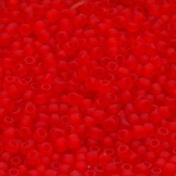 Rocailles rood mat ca. 2mm (50 gr.)