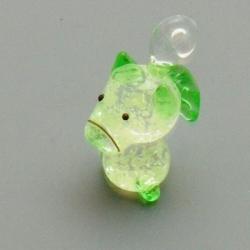 Glashanger handgemaakt paard groen 26mm (1 st.)