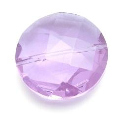 Glaskraal, rond met facetten, lila, 32 mm (1 st.)