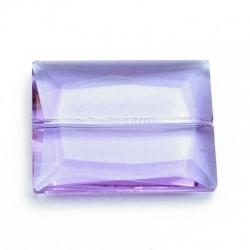 Glaskraal, rechthoek met facetten, lila, 36 x 28 mm (1 st.)