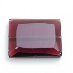 Glaskraal, rechthoek met facetten, amethyst, 36 x 28 mm (1 st.)