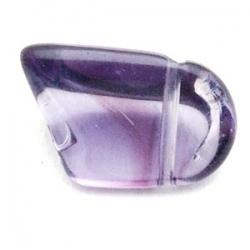 Glaskraal, brok, paars, 10 x 14 mm (10 st.)