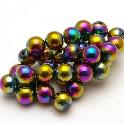 Magnetische Regenboog kralen, 10 mm (10 st.)