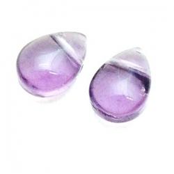 Glaskraal, druppel (plat), paars, 10 mm (10 st.)
