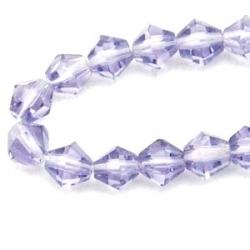 Glaskraal, diamant, paars, 4 mm (streng)