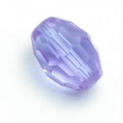 Glaskraal, ovaal met facetten, paars, 11 mm (10 st.)
