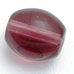 Glaskraal, ovaal, amethyst, 14 mm (10 st.)