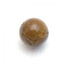 Tigereye kraal rond 6 mm (10 st.)