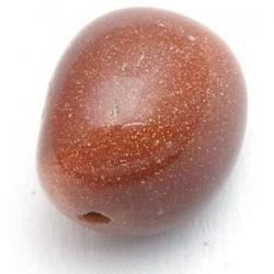 Brown Goldstone kraal rechthoek 15x10 mm (10 st.)