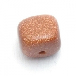 Brown Goldstone kraal brok 10 mm (10 st.)