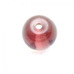 Glaskraal, rond, amethyst, 8 mm (15 st.)
