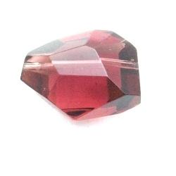 Glaskraal, brok met facetten, amethyst, 18 mm (5 st.)