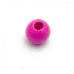 Houten kraal, rond, fuchsia, 6 mm (20 st.)