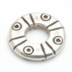 Montagering, metal, zilver, 25 mm (5 st.)