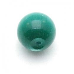 Catseye kraal rond groen 12 mm (5 st.)