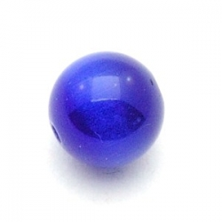 Catseye kraal rond blauw 10 mm (10 st.)