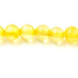 Gekleurd steen kraal geel 6mm (10 st.)