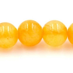 Gekleurd steen kraal okergeel 6mm (10 st.)