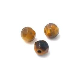 Tigereye kraal rond facet 4 mm (20 st.)